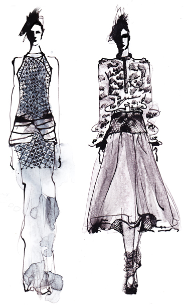 fashion illustration ilustracja mody
